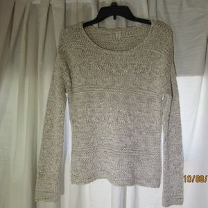 Coldwater creek knit sweater womens cream size Med